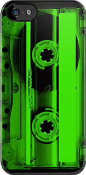 Cassette Tape Green by CaseBase