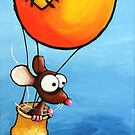 The Orange Balloon by StressieCat