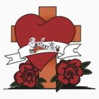 Heart, Cross, Roses by Joel Baty