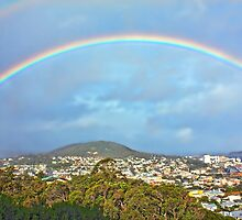 Rainbow over Albany, Western Australia by Elaine Teague