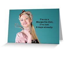Vintage Margarita Poster Greeting Card