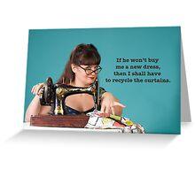 Vintage Sewing Poster Greeting Card
