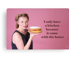 Vintage Kitchen Poster Canvas Print