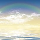 Rainbow over the sea by schtroumpf2510