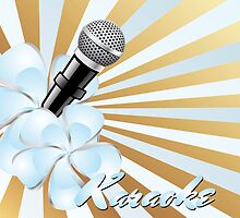 Karaoke poster in vintage design by schtroumpf2510