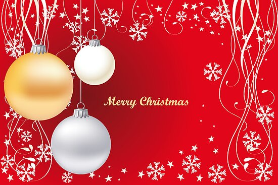 Decorative christmas card or background by schtroumpf2510