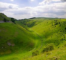 Cressbrook Dale from Mires Lane by Rod Johnson