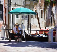 Enjoying the Rest - Venetian Gondolier by SeeOneSoul