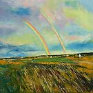 Scotland Double Rainbow by Michael Creese