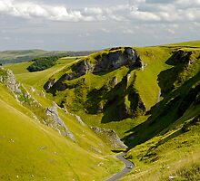 Looking Down Winnats Pass by Rod Johnson