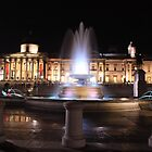 National Gallery and Fountain, Trafalgar Square by Dave Godden