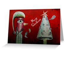 Pinguino de la Navidad Greeting Card