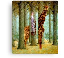 Giraffe In Forest Canvas Print