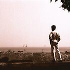 Watching the boats Mumbai by Giles Freeman