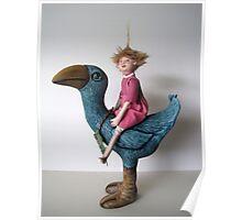 Little Sprout - art doll sculpture Poster