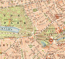 London Vintage Map iphone Case by Mary Grekos