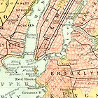 New York Vintage Map iPhone Case by Mary Grekos