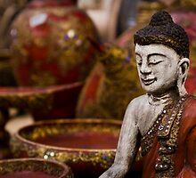 Buddha Statuette - Thailand by Daniel Nahabedian