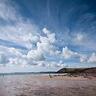 Manorbier Beach Pembrokeshire by Steve Purnell