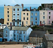 Coloured Houses Tenby Pembrokeshire by Steve Purnell
