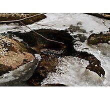 Frozen creek Photographic Print