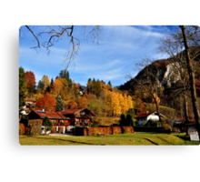 Hometown at Fall 2 Canvas Print