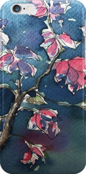 Watercolor iphone case by Ellen van Deelen