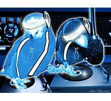 TRON Daft Punk Cyber Birds Disc Jockeys Photographic Print