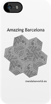 Modernist Gaudi Barcelona Tiles n3 by Mandala's World