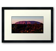 Ayers Rock Uluru Sunset, Australia Framed Print