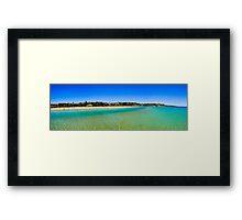 Frankston Beach Panorama Framed Print