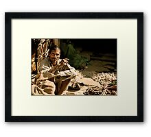 Morning Market in Bundi Framed Print