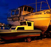 Dawn at the jetty  - M'Scala Bay Malta. by Patrick Anastasi