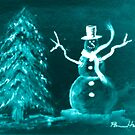 Blue Snowman by Pamela Hubbard