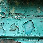 Green Peeling Paint #3 by Michele Filoscia