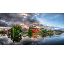 Suburban Sunrise Panorama Photographic Print