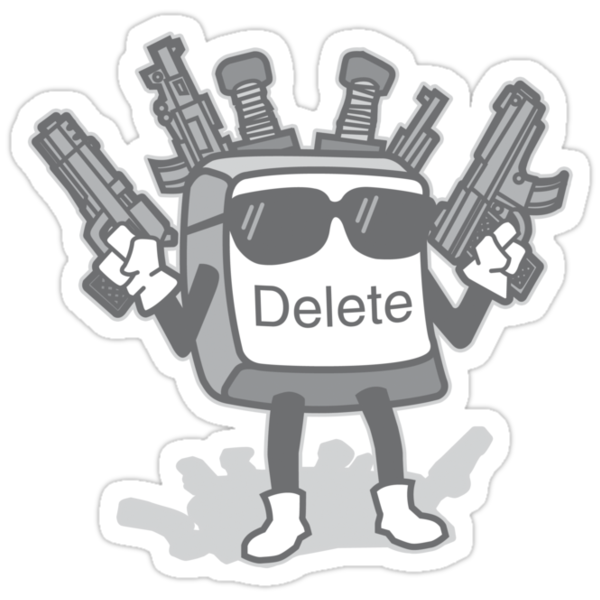 Delete Button by DetourShirts