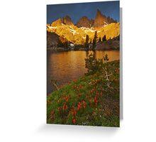 Minaret Lake Sunrise Greeting Card