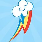 Rainbow Dash Cutie Mark (Large) Iphone Case by carnivean