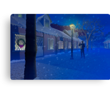The Old Lamplighter Canvas Print