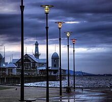 Early Morning Light over Cunningham Pier by Christine Smith