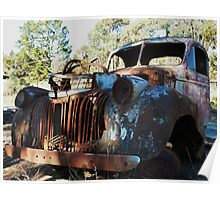 Saw mill truck wreck, Hill End Poster