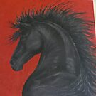 Friesian Fire - work in progress by louisegreen