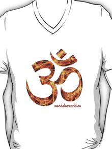 Buddhist Red Fire Om Mantra T-Shirt
