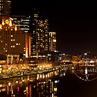 Melbourne Yarra River by Danielle  Miner
