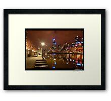 Melbourne at Night Framed Print