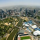 Melbourne Sports District Aerial by Russell Charters