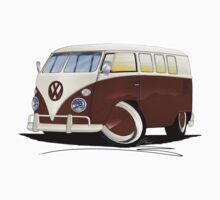 VW Splitty (11 Window) Brown by Richard Yeomans