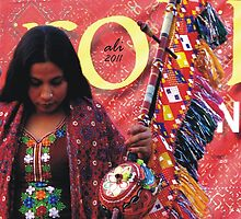 Rainbow Folk Singer  by Bobby Dar