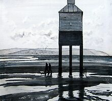 """There & Back"" - The Low Lighthouse, Burnham-on-Sea by Timothy Smith"